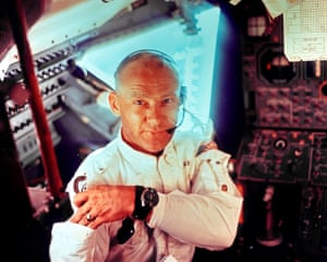 Edwin Buzz Aldrin during the July 20, 1969 moon landing mission.