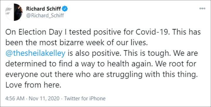 Richard Schiff on Twitter Post
