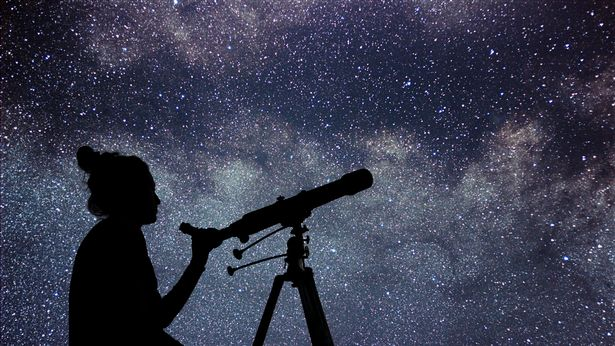 Stargazing is a peaceful activity