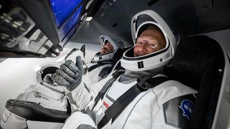 (LR) Bob Behnken and Doug Hurley