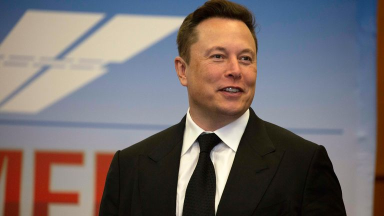 Elon Musk, founder and CEO of SpaceX, participates in a press conference at the Kennedy Space Center on May 27, 2020 in Cape Canaveral, Florida