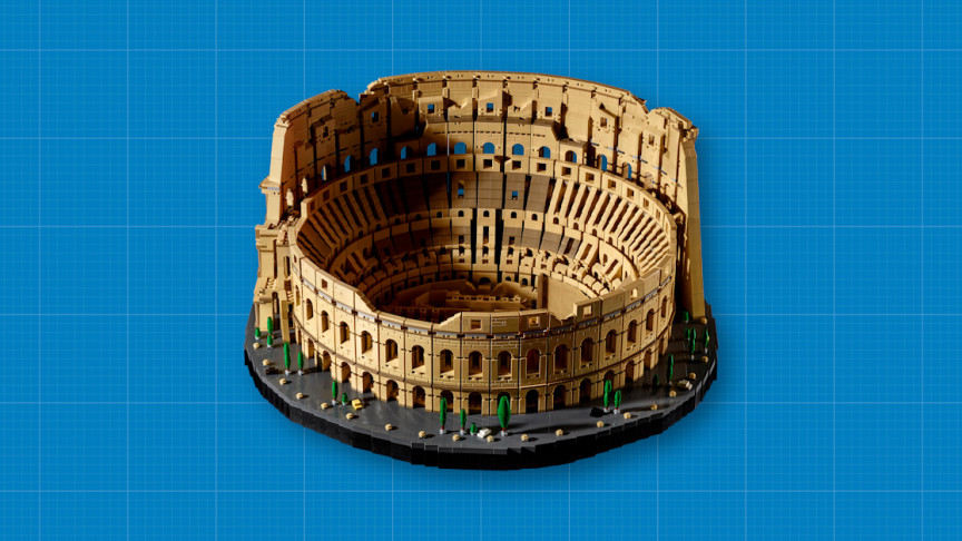 The LEGO Roman Colosseum is the largest of all, with 9,036 objects