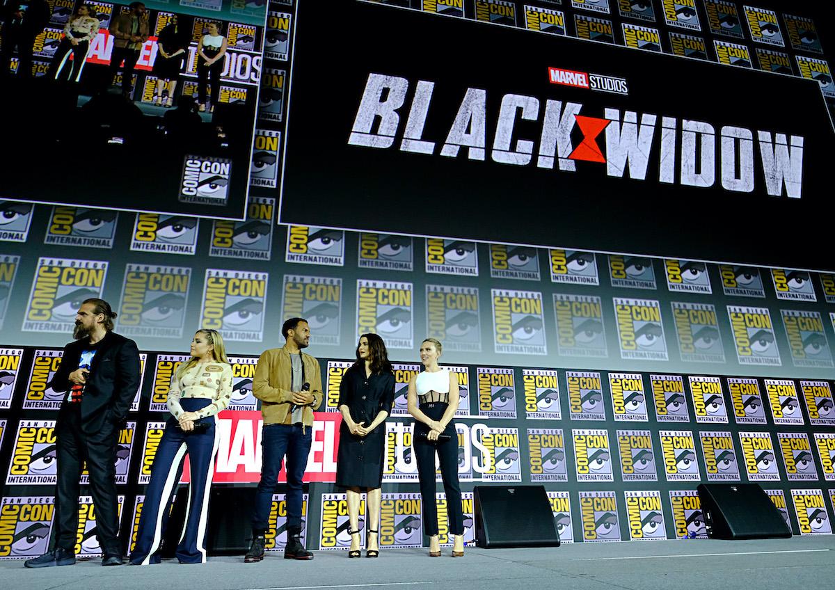 David Harbor, Florence Bio, OT Vagbenley, Rachel Weisz, and Scarlett Johansson