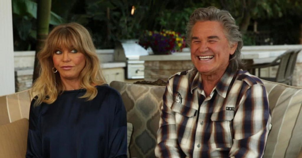 Goldie Hawn and Kurt Russell talk about sharing love - and the screen - together