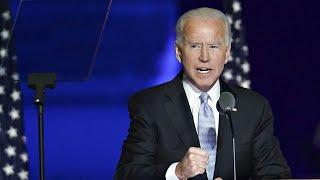 Joe Biden's victory speech as the new fully elected president