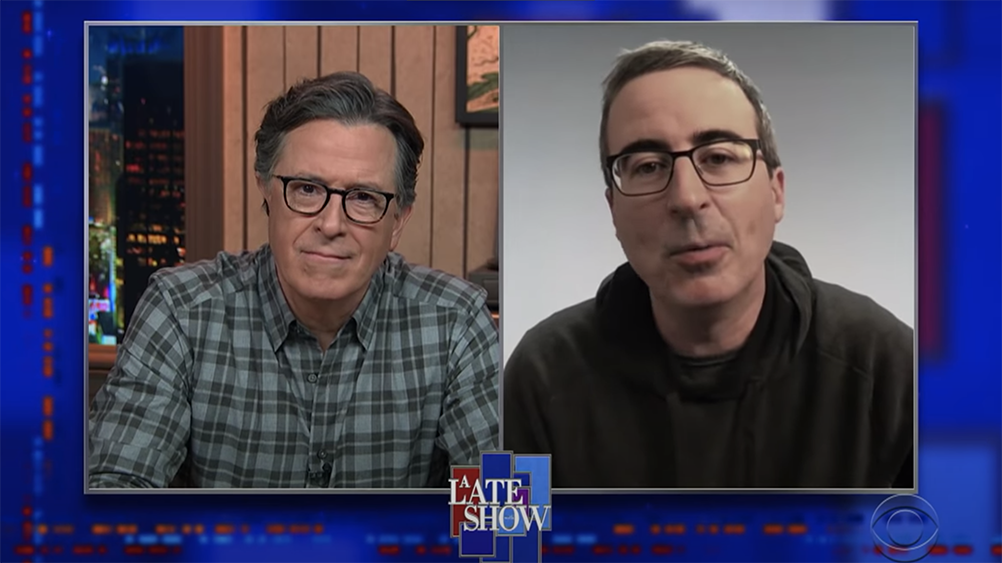 """John Oliver """"almost burst into tears"""" when voting in the US election for the first time"""