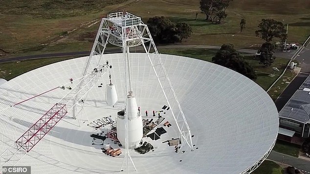 Mission operators sent a series of commands to the 43-year-old probe using the Deep Space Station 43 (DSS43) (pictured), which generated a signal confirming receipt of