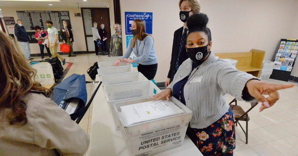 Officials say the postman withdrawal alleged ballots were outdated in Pennsylvania.