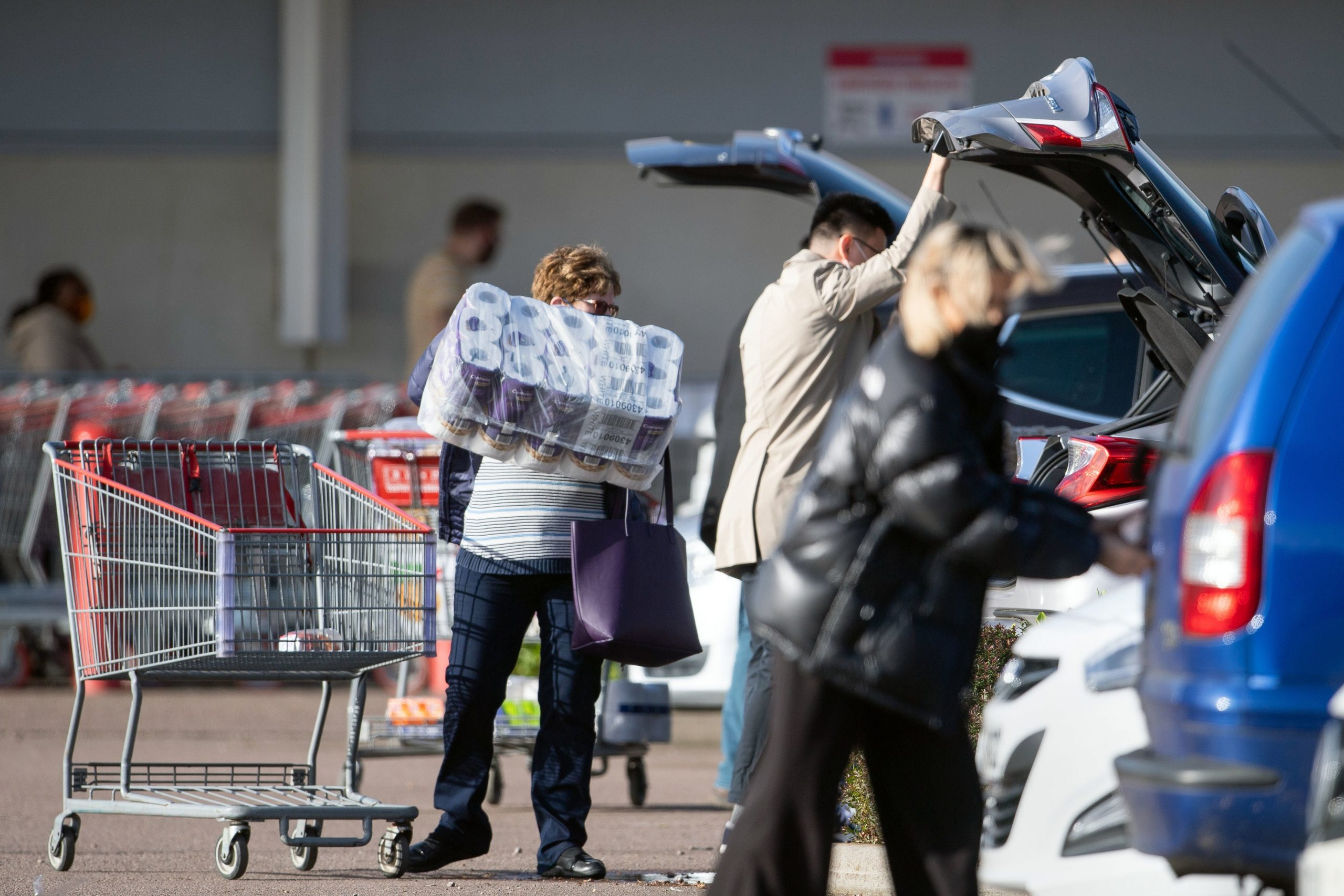 Panic buying is sweeping England as the stampede returns into the close cycle