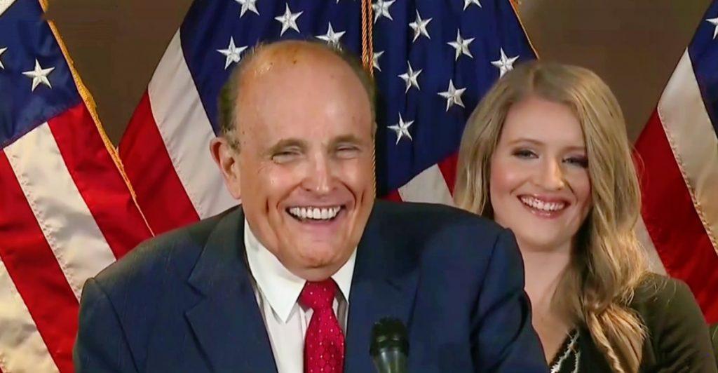 Rudy Giuliani laughs at CNN reporter
