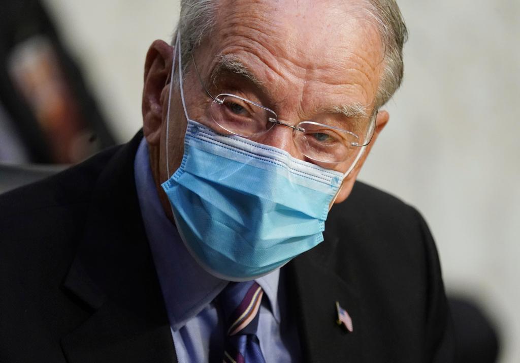 Senator Grassley, 87, says he has coronavirus