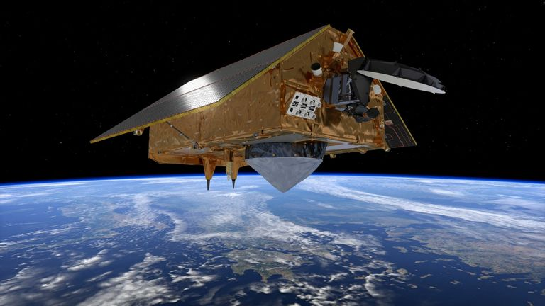What Copernicus Sentinel 6 might look like over the Andes.  European Space Agency credit