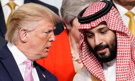 President Donald Trump speaks with Saudi Crown Prince Mohammed bin Salman at the G20 leaders' summit in Osaka, Japan, last year.
