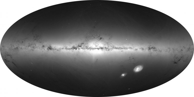 Star density from early Gaia data release 3