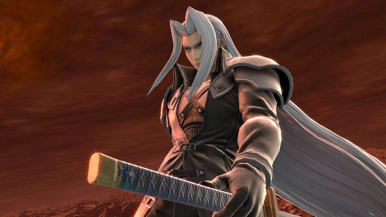 Smash Bros.  Ultimate Sephiroth for FF7, next week's release date reveal kit