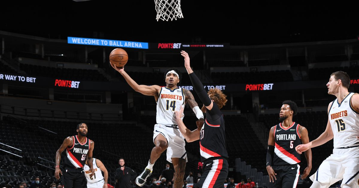 The Bottom Line: The Denver Nuggets blows the doors from the Portland Trail Blazers again, with a 129-96 win