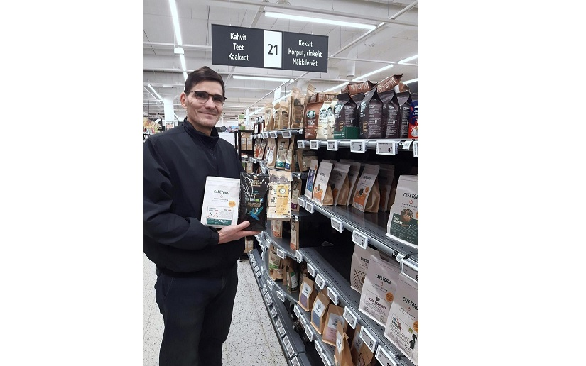 Display of Nicaraguan products during the Christmas season in Finland