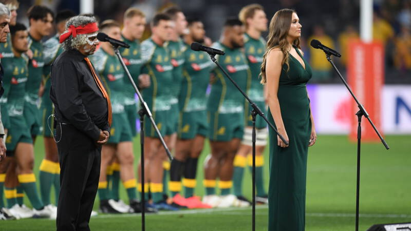 Australia with adaptation to the new year national anthem