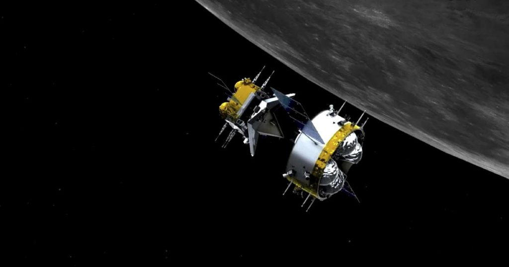 Chinese spacecraft docked in lunar orbit to send satellite samples to Earth