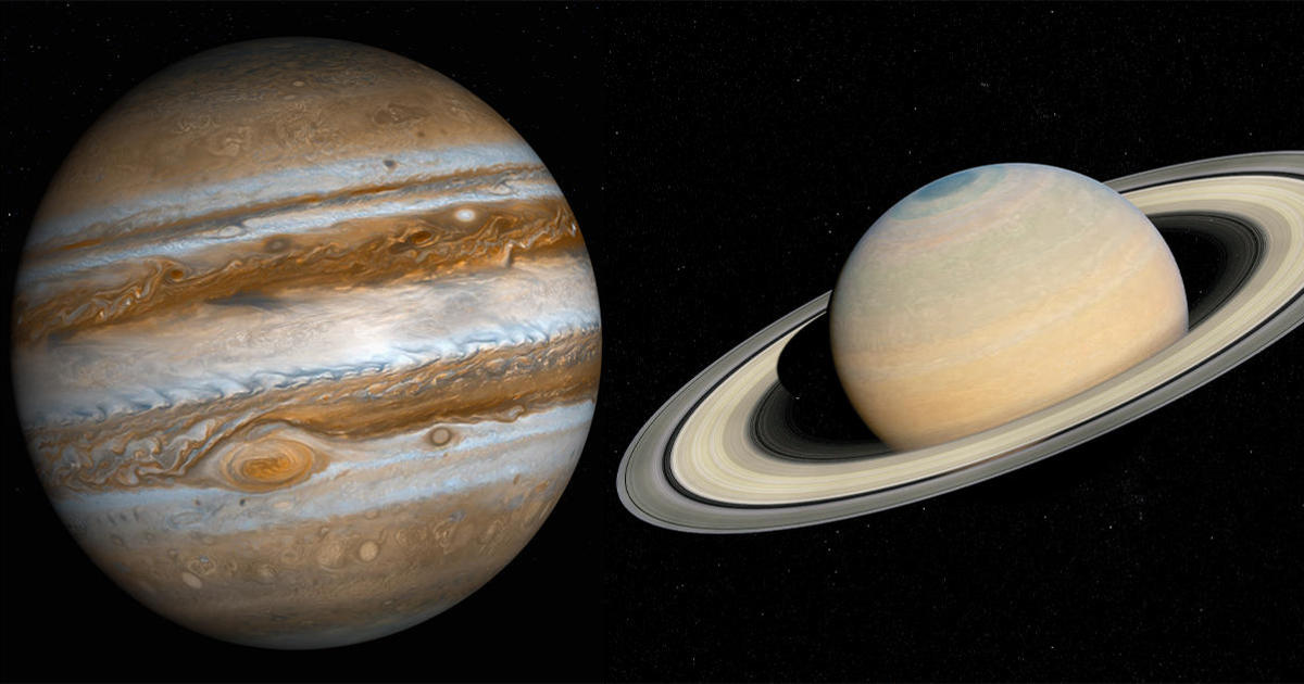 """Jupiter and Saturn will come within 0.1 degrees of each other, forming the first """"double planet"""" visible in 800 years"""