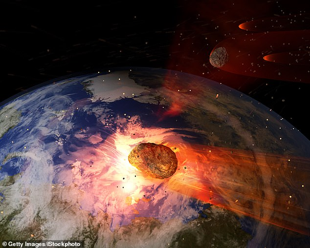 About 66 million years ago, a giant asteroid hit what is now the Mexican Yucatan Peninsula, causing the sudden extinction of more than 75 percent of the plant and animal species on Earth.
