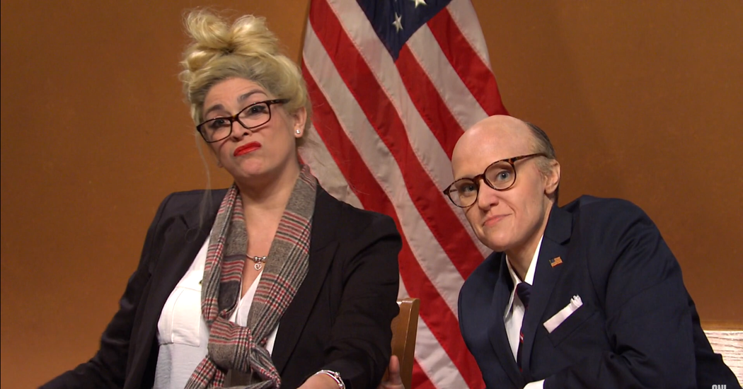 """""""SNL"""" simulates the disastrous hearing of Rudy Giuliani and Melissa Caron"""