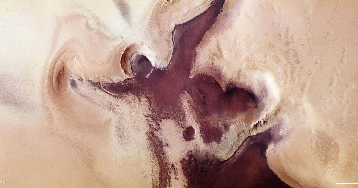 "The Martian spacecraft spotted an ""angelic figure"" near the South Pole before Christmas"
