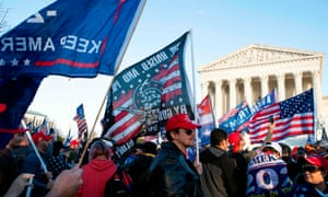 Trump supporters protested the election result in front of the US Supreme Court on December 12, 2020 in Washington, DC.