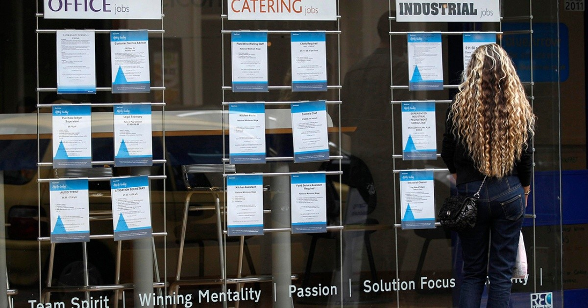 Unemployment aid in the UK is at its highest level since 1996