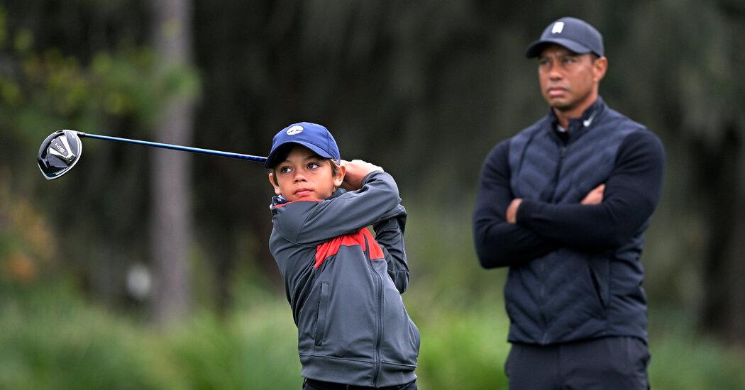 Watch Tiger Woods play an often-hidden role: Dad