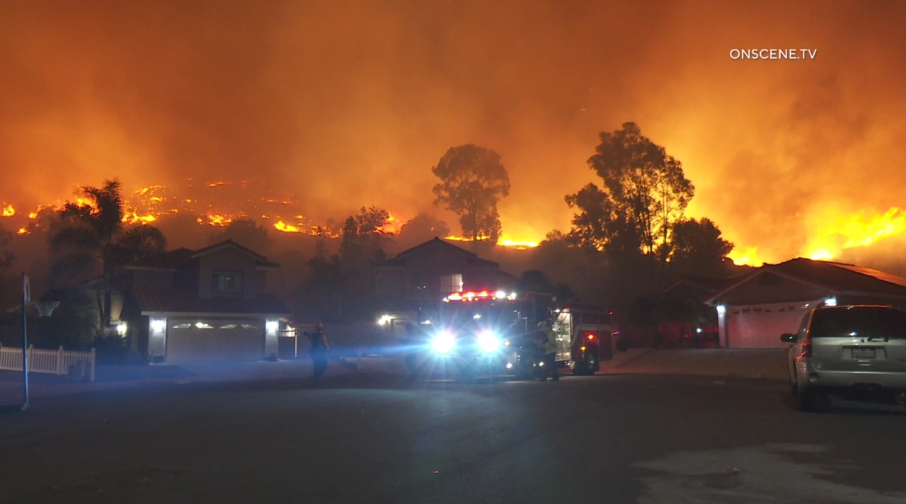 Watch the live broadcast: Evacuations underway after the Willow Fire breaks out over 15 acres in East County