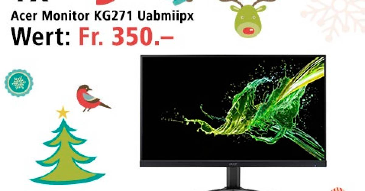 Win the Acer gaming screen on December 22nd