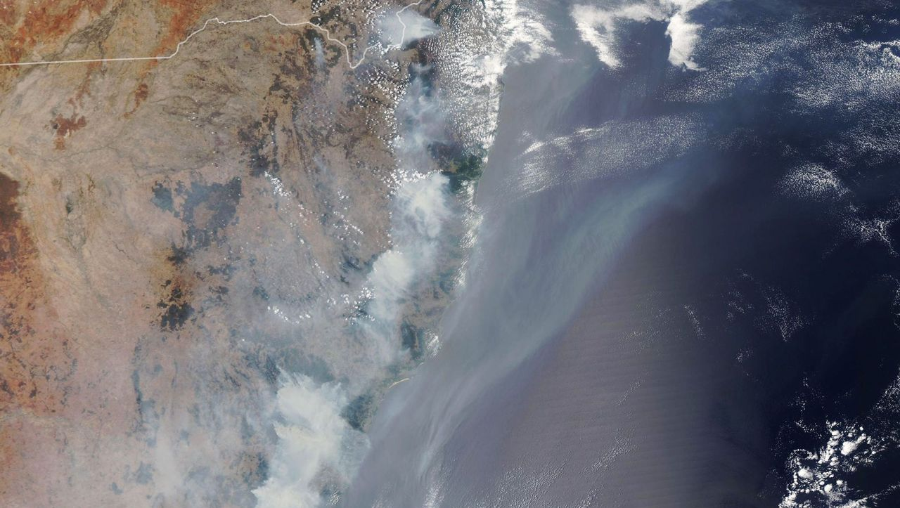 Australia: Satellite images show the extent of wildfires