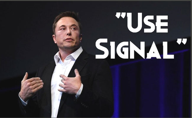 Elon Musk tells followers to use the Signal Messaging App