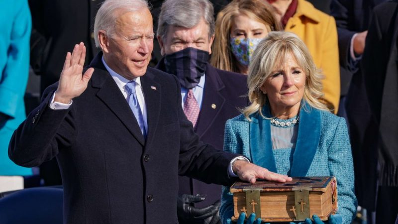 Joe Biden's inauguration live |  Biden after being sworn in as President of the United States: Democracy has won |  United States of America elections