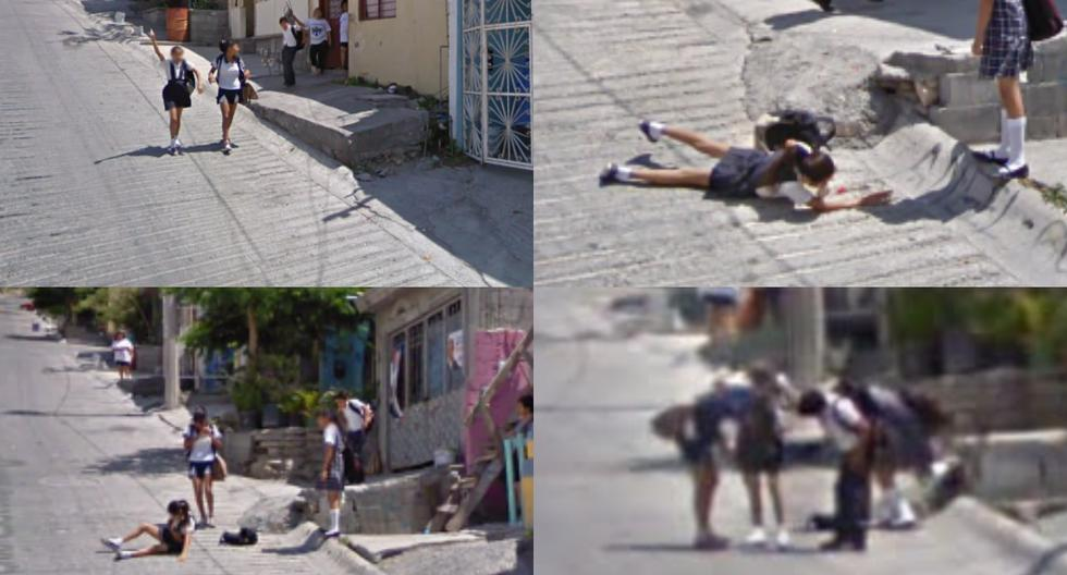 "Viral image |  The fall of a student ""immortalized"" in Google Maps 