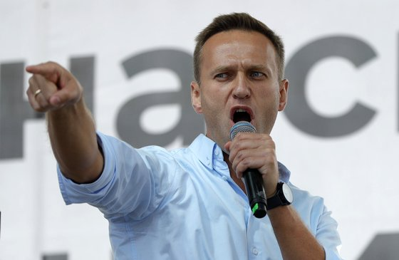 Alexei Navalny, Russia's leading opponent and anti-Putin, was recently sentenced to prison. [AP]