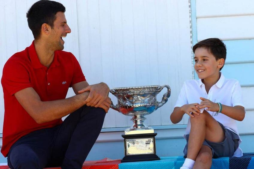 Djokovic and the interview with a Serbian boy after 18 Grand Slam tournaments