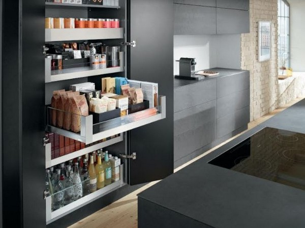 Efficiently manage space in your kitchen with Hafele-ANI's Blum SPACE TOWER unit