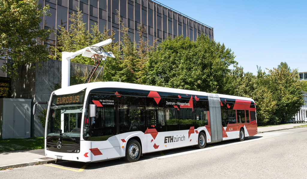 The Mercedes-Benz eCitaro G makes its debut on the streets of Switzerland