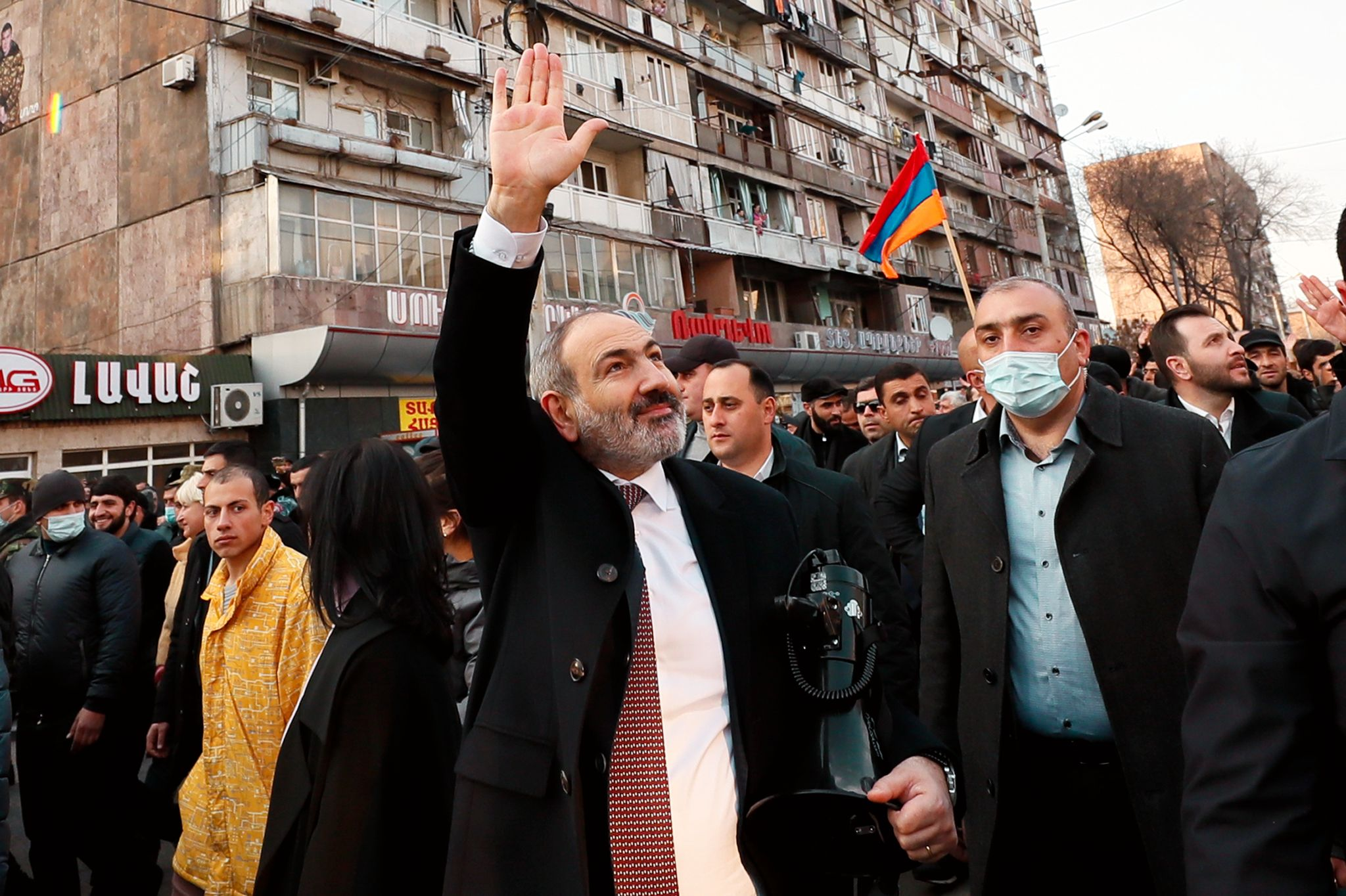 Protesters stormed Armenian government buildings