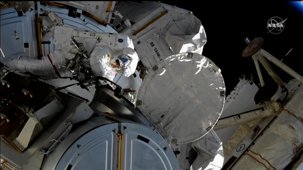 Watch the latest spacewalk in high definition