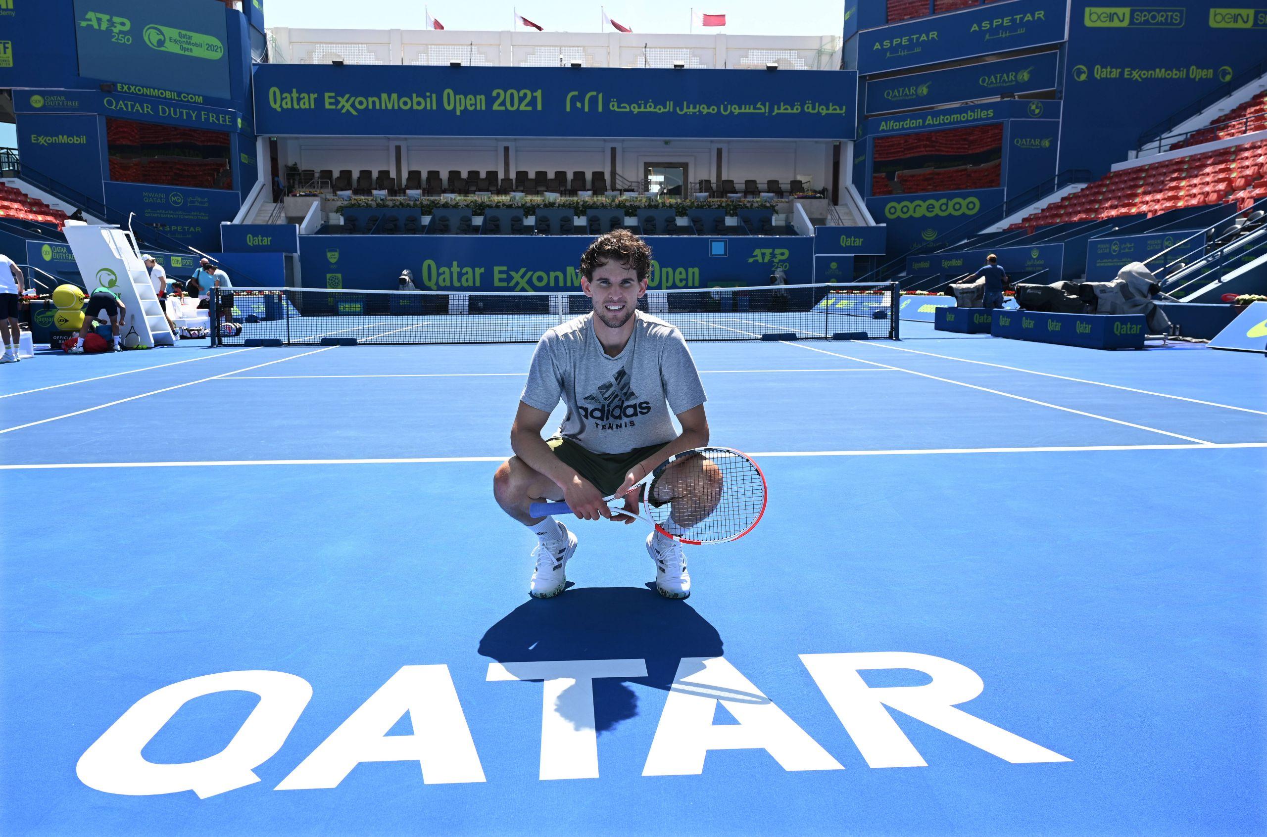 ATP Doha: Thiem vs.  Karazew is now in Free Live Streaming