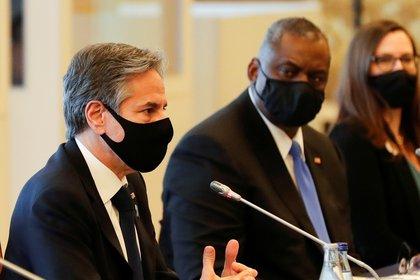 Secretary of State Anthony Blinken and Secretary of Defense Lloyd Austin.  REUTERS / Kim Kyung Hoon