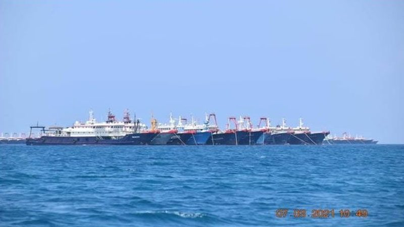 Photos revealed 220 boats that indicated no fishing.