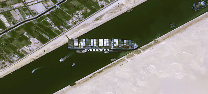 8 years .. 14 ships .. in the Suez Canal