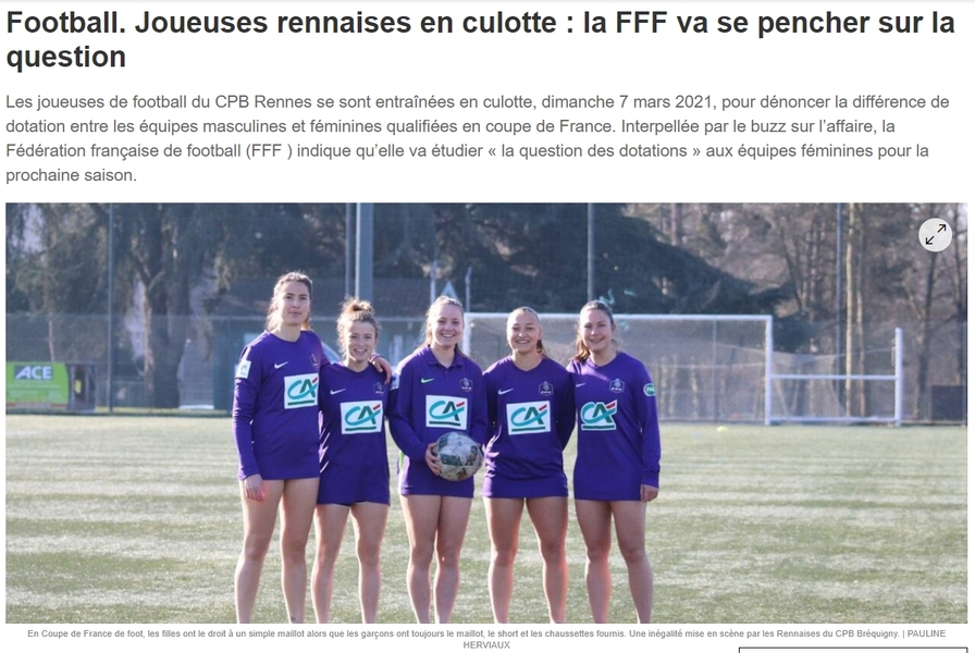 """France: How team players protested against inequality in football: """"Authorities say 'OK for boys, not girls'"""" – Football"""