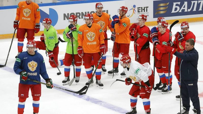 Russian ice hockey team flies into the 2021 World Championships