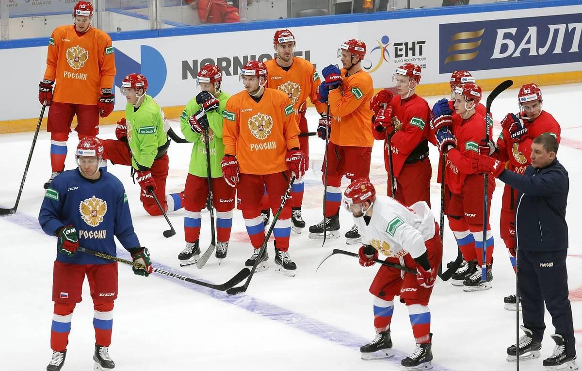 Russian ice hockey team flies into the 2021 World Championships