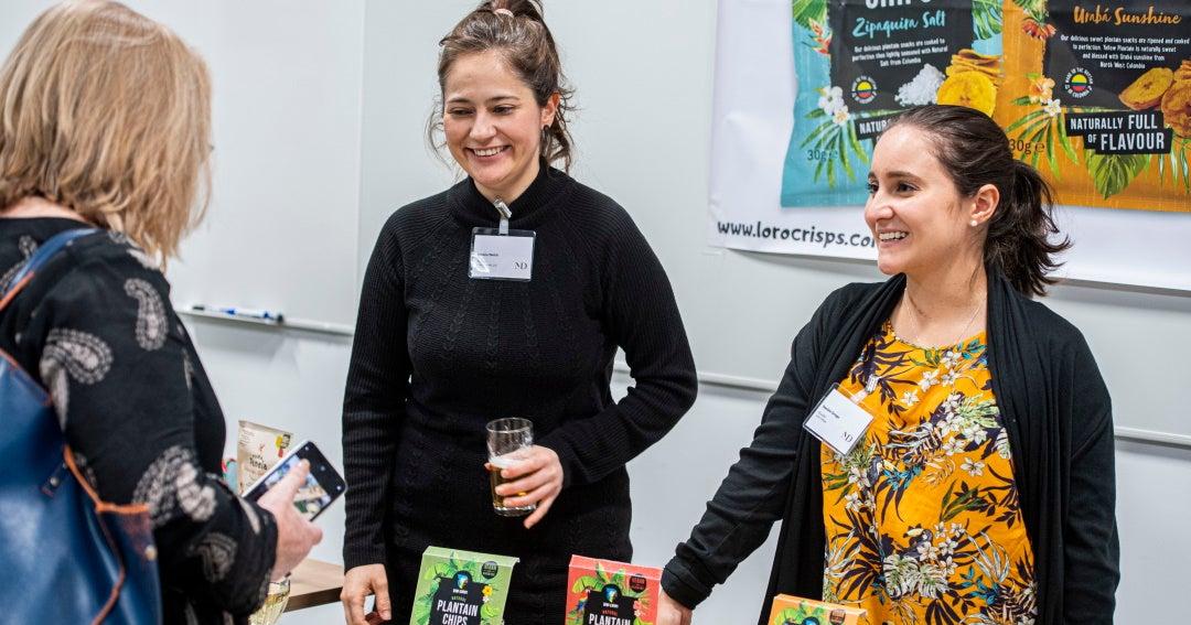 Two Colombian entrepreneurs took banana snacks from Uraba to the UK